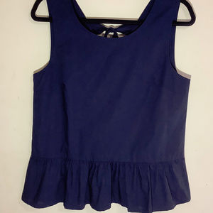J.Crew Factory Sleeveless Peplum Top NWT